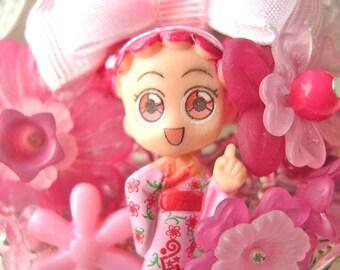 Hair Clip kawaii fairy kei lolita accessory manga girl kanzashi PINK