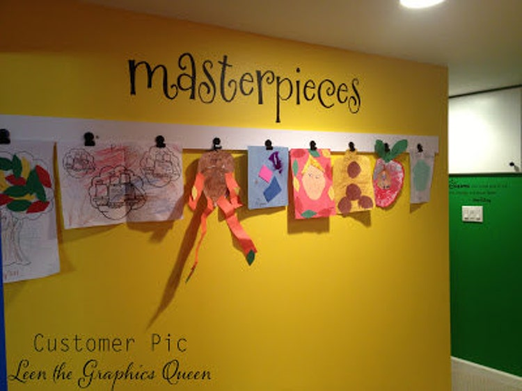 Masterpieces Wall Decal For Children S Art By