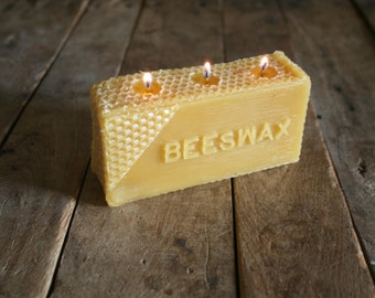 Pure Beeswax 1 lb. candle