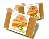 Hazelnut Cream Soap Handmade MINI GUEST Bar Goats Milk Soap Bars