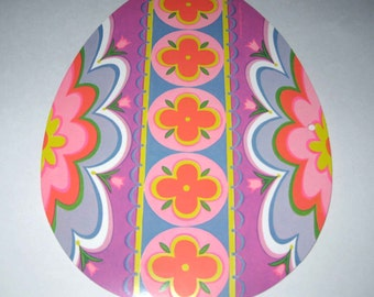 Vintage 1970s NOS Cardboard Easter Easter Egg Die Cut Decoration by Beistle