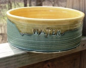 For Lauren Personalized Dog Food Water Dish Bowl Pet Made to Order Extra Large Lead Free Ceramic Pottery Featured in Midwest Living Magazine