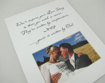 Don't Compare Your Love Story Designer 8 x 10 Photo Mat Design 91