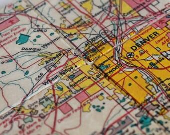 Denver Map Coasters - set of 4