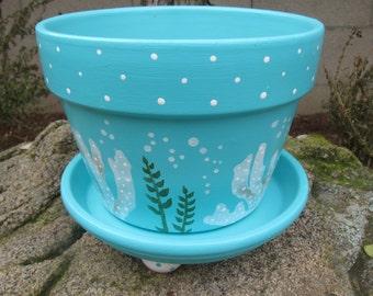 Ocean Coral Flower Pot