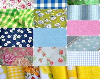 Wedding Cloth Napkins made from Vintage Fabrics, Shabby Chic, Cottage Chic
