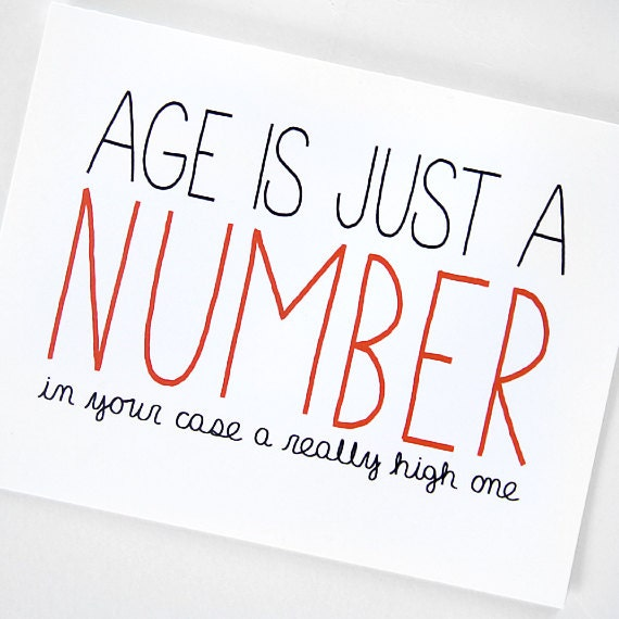 Funny Birthday Card Age Is Just A Number By JulieAnnArt On