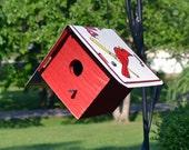 St. Louis Cardinals Birdhouse - Rustic Birdhouse - Cardinals - St. Louis Cardinals