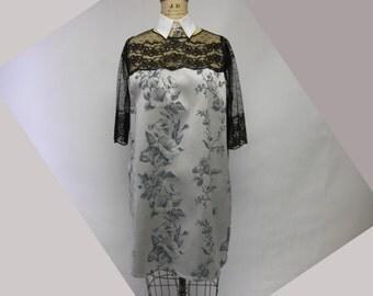 Brocade and Lace Tunic Sheath Dress