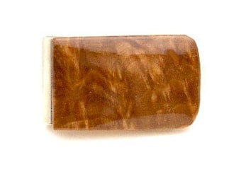 Handmade Wood Money Clip Australian Brown Malle Burl Wood