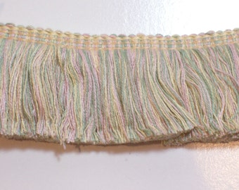 Pastel Fringe, Pastel Brush Fringe Sewing Trim 1 3/4 inches wide x 1 yard