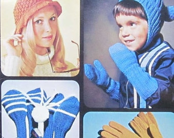 Vintage Patons Gifts and Accessories Knitting Crochet Pattern Book