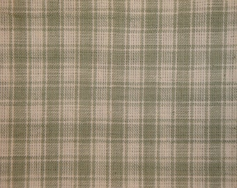 Sewing Fabric | Quilt Fabric | Homespun Fabric | Plaid Fabric | Craft Fabric | Large Grey Plaid Fabric | 1 Yard