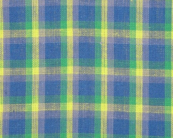 Plaid Fabric | Cotton Fabric | Homespun Fabric | 1 Yard