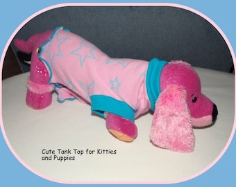 Stars for Sphynx and Puppy Clothing To Order Pink Tank Dress