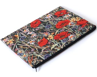 SALE! MacBook 15 Pro Case Sleeve Padded Cover Bag Red Poppies Poppy
