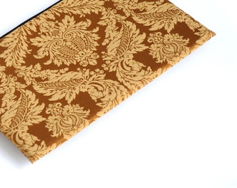 SALE! MacBook 15 Pro cover, case, sleeve, gold brown ornaments fabric