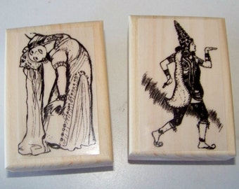 Lot of 2 New Mounted Rubber Stamps - BELLY DANCERS