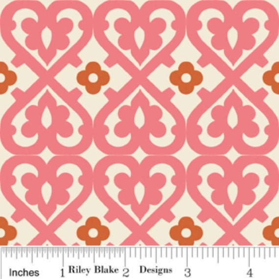 Indian Summer Pink Damask - Clearance LAST 2/3 Yard