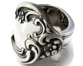 Retro Silver Spoon Ring Wisteria 1968