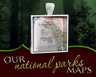 Everglades National Park Map Pendant