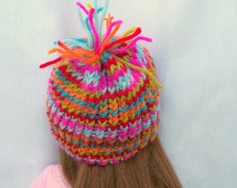 Crochet Doll Hat Confetti Full of Colors Hat Fits 18 inch doll