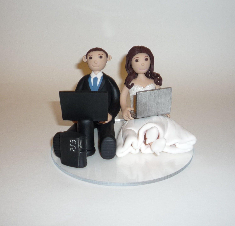 Video Game Wedding Cake Topper Sample By Bluebutterflydesign