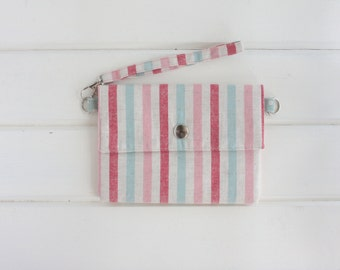 Sweet Stripes Envelope Wristlet