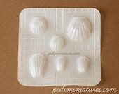 Miniature Food Mold - Madeleine Mold - Air Dry Clay Mold