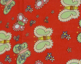 Butterflies and Flowers Burp Cloth