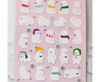 Paper Stickers (P185.01 - Cozy Bear)