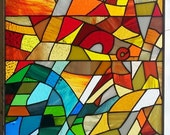 Stained glass panels - Inspired in the Sagrada Familia (P-27)