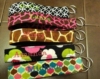 Monogrammed Personalized Wristlet Keyfobs Keychains