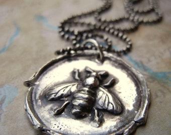 Bee Jewelry, Bee Necklace, Honey Bee Necklace, Bee Jewelry, Bee Necklace, Silver Bee Pendant