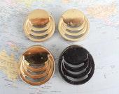 SALE! 4 vintage round Deco style brass metal handles
