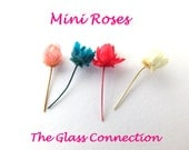 50 Mini Dried Roses Real Miniature Flowers charms Glass Vial fillers Red for Glass Bottles Charm Dollhouse Rice Jewelry DIY