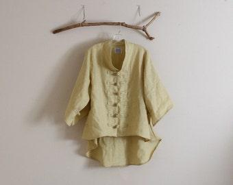 handmade linen jacket size XS to 6XL