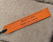 Make It Personal - Custom Leather Bookmarks - with latigo suede lacing
