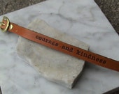 SWEET n SIMPLE - Personalized thin leather wristband with buckle - approx. 3/8 inch wide