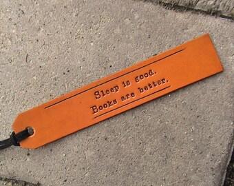 Make It Personal - Custom Leather Bookmarks - with latigo suede lacing