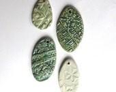 Four Ceramic Pendants set 2