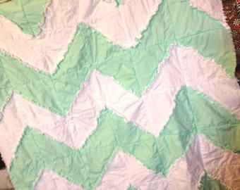 Chevron Rag Quilt Pattern - Zig Zag Quilt Pattern - Beginner Pattern - Easy Baby Quilt Patterns - Easy Quilt Patterns - HST Pattern