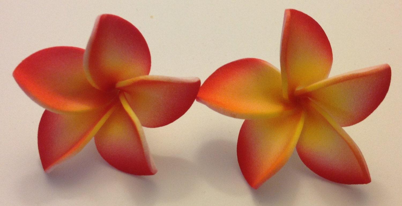 Plumeria Plumeria Barrette Orange Flower Orange Barrette