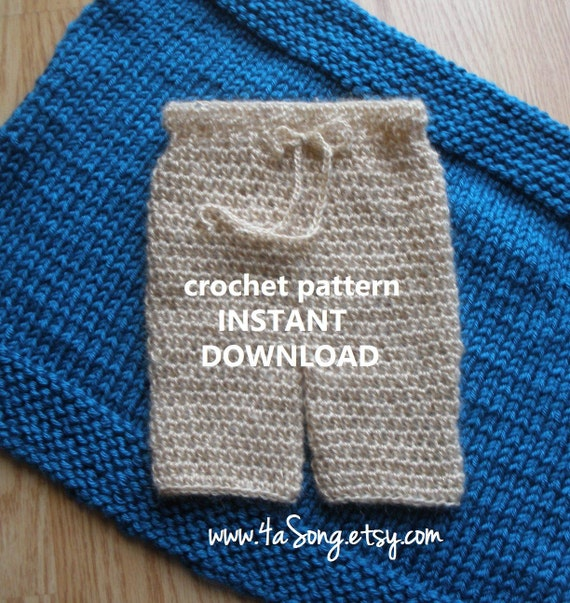 Newborn Pants Photo Prop Crochet Pattern PDF Number 245 by ...