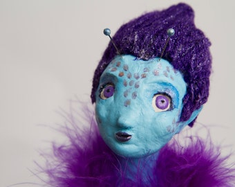 Juno the Martian - ooak handmade art doll