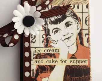 Mini Cake for Supper composition book journal