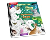 Australian Wildlife  Friends Colouring Book- Comb Bound - Revised - Animal Colouring Sheets