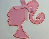 Barbie Silhouette 4x4 Embroidered DIY Clothing Applique -100282
