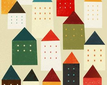 The city maze print