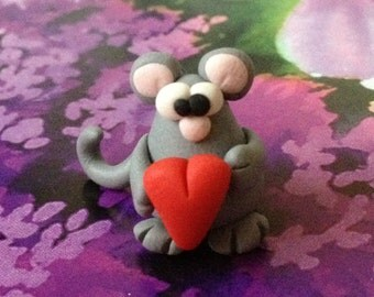 Mouse Polymer Clay Creation by bdbworld on Etsy No 1